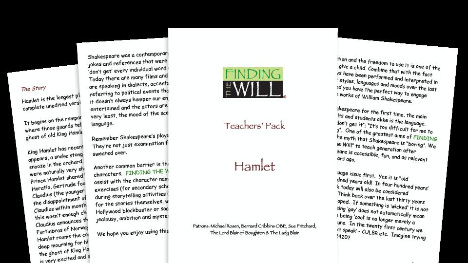 William Shakespeare KS2 teaching pack and activities for Hamlet