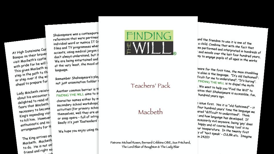 William Shakespeare KS2 teaching pack and activities for Macbeth
